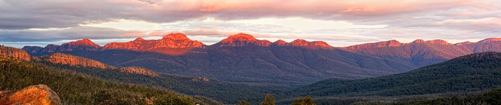 Grampians at sunset